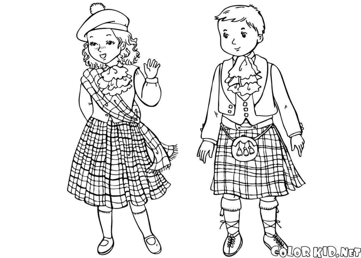 スコットランドの子どもたち