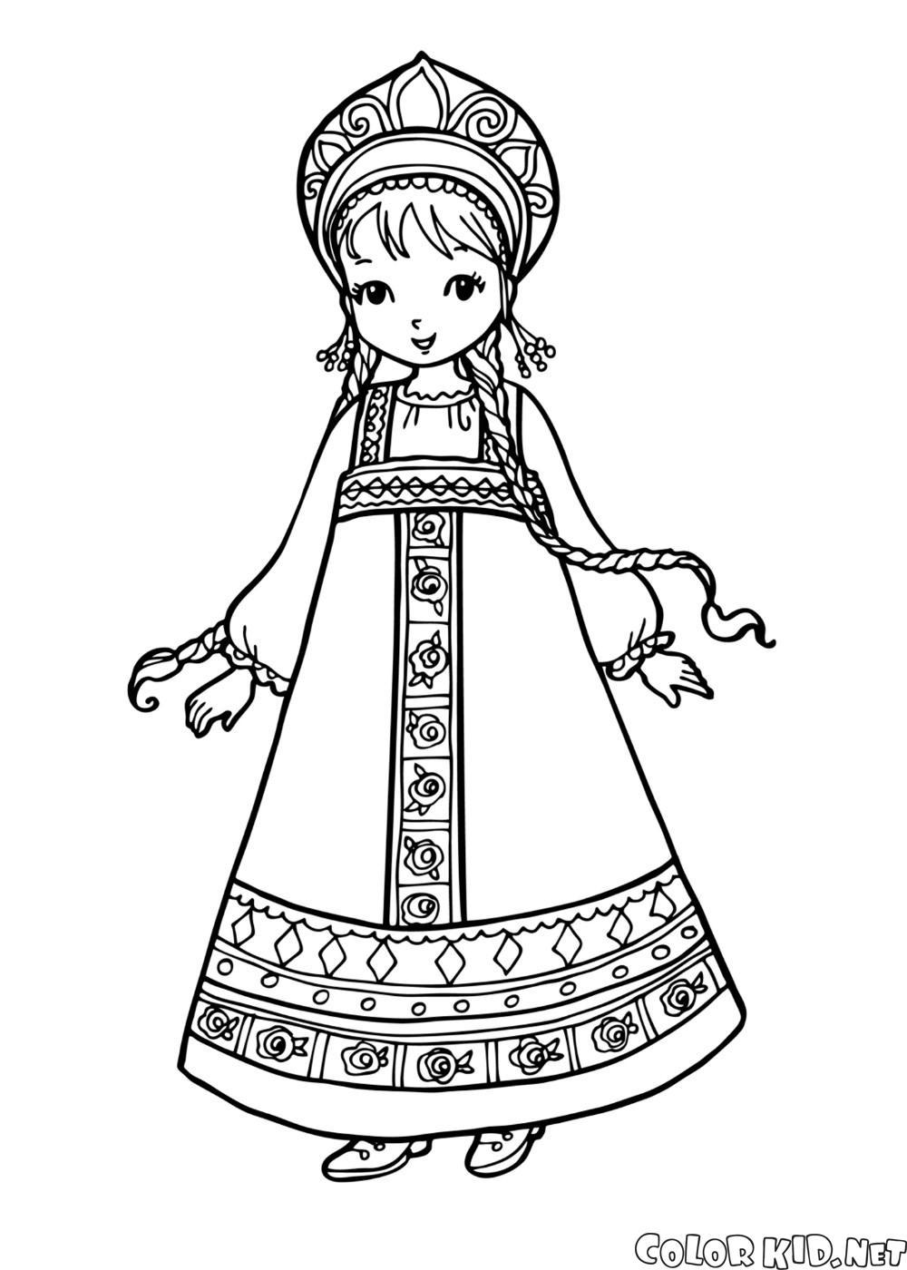 民族衣装を着た少女