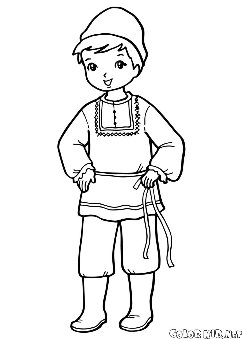民族衣装を着た少年