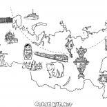 ロシアの地図