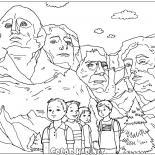 ラシュモア山の彫刻