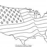アメリカの国旗地図